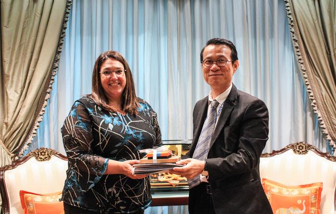 การหารือระหว่างกองทุนประชากรสหประชาชาติประจำประเทศไทยและกรมความร่วมมือระหว่างประเทศ