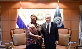นางนาตาเลีย คาเนม ผู้อำนวยการบริหารกองทุนประชากรแห่งสหประชาชาติ (United Nations Population Fund – UNFPA) และรองเลขาธิการสหประชาชาติ ได้เข้าเยี่ยมคารวะและหารือกับนายดอน ปรมัตถ์วินัย รัฐมนตรีว่าการกระทรวงการต่างประเทศ ในโอกาสที่นางคาเนมเดินทางเยือนประเทศไทย