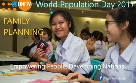 World Population Day 2017, Family planning: empowering people, developing nations