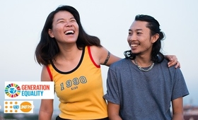 I am Generation Equality: Working together to achieve a gender-equal world (Photo credit: UNFPA/ Chalit Saphaphak)
